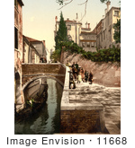 #11668 Picture Of St Christopher Canal Venice Italy