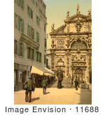 #11688 Picture Of A Church Of San Moise Venice Italy