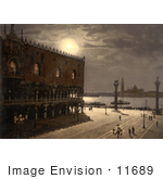 #11689 Picture Of Piazzetta And San Georgio By Moonlight