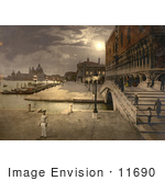 #11690 Picture Of Doges' Palace And St Mark'S At Night