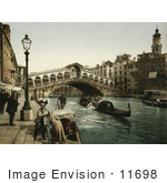 #11698 Picture Of The Rialto Bridge Venice Italy