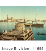 #11699 Picture Of Boats In Harbor Venice Italy