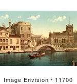 #11700 Picture Of A Gondola And Waterfront Buildings Venice
