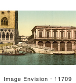 #11709 Picture Of The Bridge Of Sighs Venice Italy