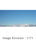 #1171 Photograph Of Blue Sky With White Clouds Over Medford Oregon