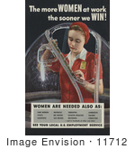 #11712 Picture Of A Woman Working A War Job