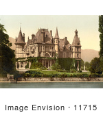 #11715 Picture of Shadau Castle on Lake Thun, Switzerland by JVPD