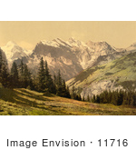 #11716 Picture Of Mountains Wengrenalp Bernese Oberland Switzerland