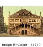 #11719 Picture Of A Facade Of The Town Hall In Berne Switzerland