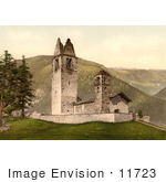 #11723 Picture Of An Old Church Celerina Schlarigna Switzerland