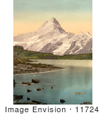 #11724 Picture Of Bach Alps Lake And Schreckhorn