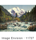 #11727 Picture Of Gorge Of The Lutschine River In Switzerland