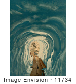 #11734 Picture Of A Path Through An Ice Cave At Grindelwald Grotto
