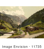 #11735 Picture Of Lauterbrunnen Valley In Switzerland