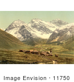 #11750 Picture Of Upper Engadine Sertigthal Grisons Switzerland