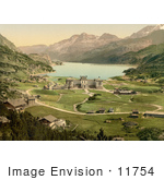 #11754 Picture Of A View On Maloja Palace In Switzerland