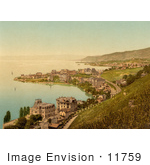 #11759 Picture Of Lakefront Buildings Montreux And Clarens Switzerland