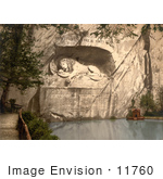 #11760 Picture Of The Lion Monument In Switzerland