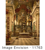 #11763 Picture Of The Interior Of Pilgrams' Church In Switzerland
