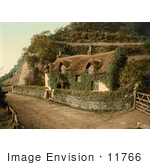 #11766 Picture Of An Ivy Covered Cottage In England