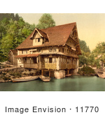 #11770 Picture Of Boats By A House In Switzerland