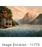 #11773 Picture Of Tell'S Chapel On Lake Lucerne