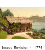 #11776 Picture Of Home On Lake Lucerne In Rutli Meadow