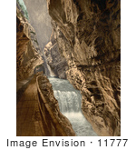 #11777 Picture Of A Path In The Gorge Of The Tamina Switzerland