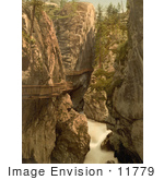 #11779 Picture Of A Wooden Walkway Path In Gorner Gorge Switzerland