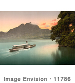 #11786 Picture Of A Ship On Lake Lucerne At Sunset