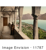 #11787 Picture Of A Monk On A Balcony In Switzerland