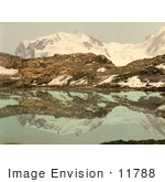 #11788 Picture Of Monte Rosa Reflecting In Riffel Lake Switzerland