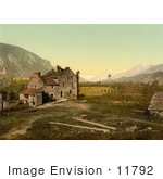 #11792 Picture Of A Castle In Ruins Switzerland