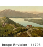 #11793 Picture Of Lake Lucerne Staffel And Mount Pilatus Rigi Switzerland