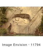 #11794 Picture The Lion Monument In Switzerland