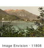 #11808 Picture Of The Village Of Sarnen On Lake Sarner