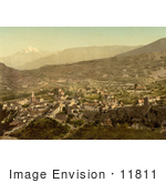 #11811 Picture Of The City Of Sion Valais Switzerland