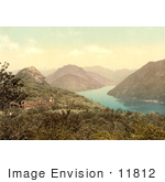 #11812 Picture Of The Village Of Monte Bre On Lake Lugano Switzerland