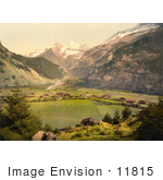 #11815 Picture Of Kandersteg Village In Switzerland