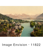 #11822 Picture Of Waterfront Buildings Of Thun Switzerland