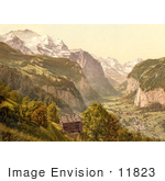 #11823 Picture Of Lauterbrunnen Valley In Switzerland