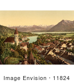 #11824 Picture Of Thun On Lake Thun Switzerland