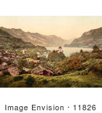 #11826 Picture Of Ringgenberg On The Shore Of Brienz Lake
