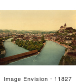 #11827 Picture Of Aare River Flowing Through Thun Switzerland