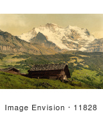 #11828 Picture Of Wengen And Jungfrau Mountains Switzerland