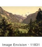 #11831 Picture Of Jungfrau Monch And Eiger Mountains Of The Swiss Alps