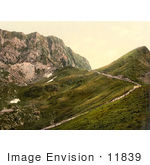 #11839 Picture Of A Railway And Rochers De Naye Switzerland