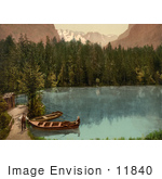 #11840 Picture Of People By Boats In Kander Valley Switzerland