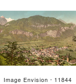 #11844 Picture Of An Aerial Of Meiringen Bernese Oberland Switzerland