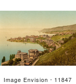 #11847 Picture Of The Coastal Village Of Montreux And Clarens Switzerland